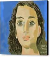 Retrato De Mi Hija M. Jose Canvas Print