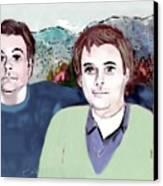 Retrato Mis Hijos Andres - Alejandro Canvas Print