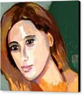 Retrato Patricia Canvas Print