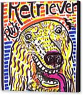 Retriever Canvas Print by Robert Wolverton Jr