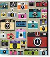 Retro Camera Pattern Canvas Print