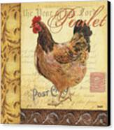 Retro Rooster 1 Canvas Print by Debbie DeWitt