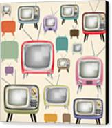 retro TV pattern  Canvas Print by Setsiri Silapasuwanchai