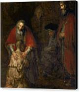 Return Of The Prodigal Son Canvas Print by Rembrandt Harmenszoon van Rijn