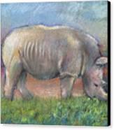Rhino Canvas Print by Arline Wagner