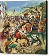 Richard The Lionheart During The Crusades Canvas Print by Peter Jackson