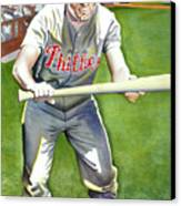 Richie Ashburn Topps Canvas Print by Robert  Myers