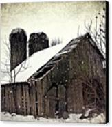 Rickety Old Barn Canvas Print by Stephanie Calhoun