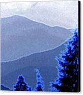 Ridge Layers 4 Ae Canvas Print