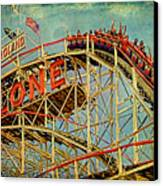 Riding The Cyclone Canvas Print