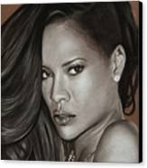 Rihanna Portrait Canvas Print by Prashant Shah