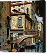 Rio Degli Squeri Canvas Print by Guido Borelli