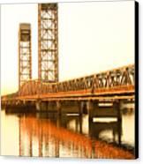 Rio Vista Bridge Sunrise Canvas Print by Troy Montemayor