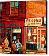 Ripples Ice Cream Factory Canvas Print