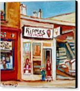 Ripples Icecream  Canvas Print