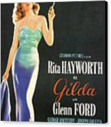 Rita Hayworth As Gilda Canvas Print