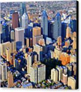 Rittenhouse Square Park And Philadelphia Skyline Canvas Print by Duncan Pearson
