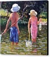 River Fun Canvas Print