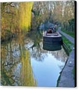River Reflections  Canvas Print by Gill Billington