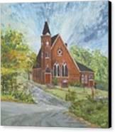 Riverton Church Canvas Print