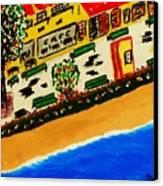 Riviera Beach Cafe Canvas Print