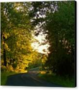 Road At Sunset Canvas Print by Joyce Kimble Smith