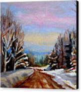 Road To Knowlton Quebec Canvas Print