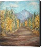 Road To Mountain Canvas Print