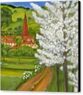 Road To Schollkrippen Canvas Print by Anna Folkartanna Maciejewska-Dyba