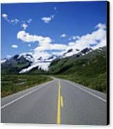 Road To Worthington Glacier Canvas Print