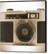 Robin 35mm Rangefinder Camera Canvas Print by Mike McGlothlen