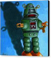 Robot Dream - Realism Still Life Painting Canvas Print by Linda Apple