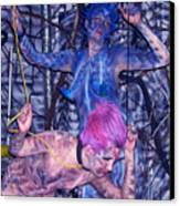 Robotic Blues Canvas Print