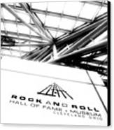 Rock And Roll Hall Of Fame Canvas Print by Kenneth Krolikowski
