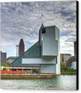 Rock And Roll Hall Of Fame Canvas Print by Robert Pearson