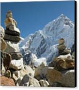 Rock Piles In The Himalayas Canvas Print