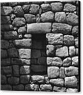 Rock Window Shadow Canvas Print
