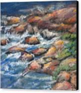 Rocks Along The Shore Canvas Print