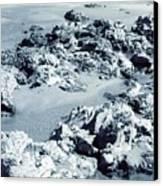 Rocks At Shoreline Canvas Print