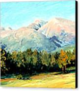Rocky Mountain Panoramic Canvas Print by Mary Giacomini