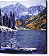 Rocky Mountain Serenity Canvas Print by David Lloyd Glover