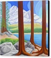 Rocky Mountain View 1 Canvas Print