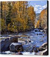 Rocky Mountain Water 8 X 10 Canvas Print by Kelley King