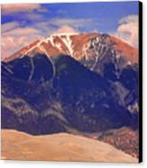 Rocky Mountains And Sand Dunes Canvas Print by James BO  Insogna