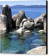 Rocky Shore Canvas Print by Janet Fikar