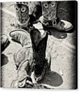 Rodeo Boots And Spurs Canvas Print