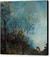Roedeer In The Morning Canvas Print