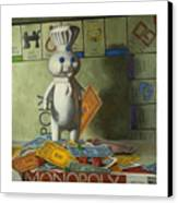 Rolling In Dough Canvas Print by Judy Sherman