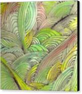 Rolling Patterns In Greens Canvas Print