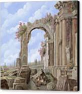 Roman Ruins Canvas Print by Guido Borelli